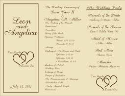 free tri fold wedding program templates tri fold wedding invitations template paperinvite