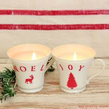 tea cup candles easy christmas teacup candles martha stewart paints