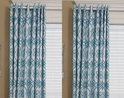 Teal Drapes Curtains Blackout Curtains Etsy