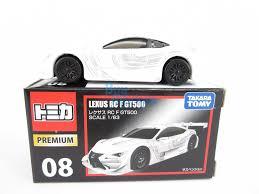 lexus rcf singapore takara tomy tomica premium 08 lexus rc f gt500 scale 1 63 diecast