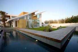 Modern Style Luxury Villa Exterior Modern Rustic Style Home Exterior Design Come With Wooden Deck