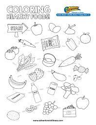 healthy food coloring pages chuckbutt com