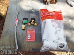 Kitchen Faucet Water Supply Lines Build An Outdoor Sink Part Two U2013 Connecting The Water Supply