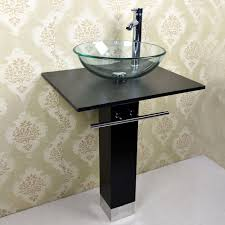 Small Bathroom Basin Small Bathroom Glass Wall Mount Vessel Sink Vanity Combo Set
