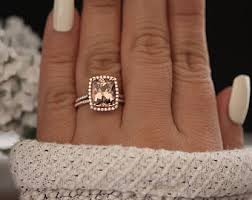 morganite engagement ring gold morganite ring etsy
