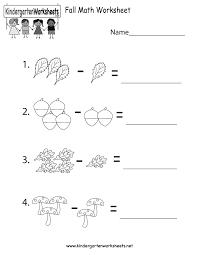Images Of Math Worksheets Fall Math Worksheet Free Kindergarten Seasonal Worksheet For Kids