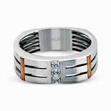 mens wedding bands with diamonds 14k white gold men s wedding band with diamond accent