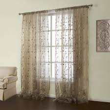 Embroidered Sheer Curtains Curtain Embroidered Sheer Curtains Ready Made Window Treatment