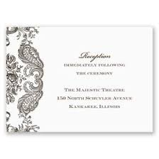 wedding reception cards rustic lace invitation invitations by