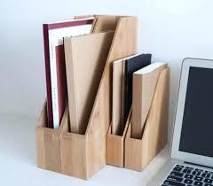 Desk Filing Organizer Desk Folder Organizer Bamboo Desk Office Magazine File Folder