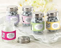 favors wedding personalized glass jar set of 12
