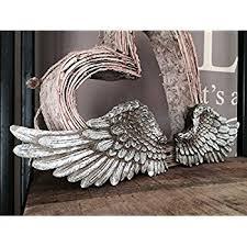 Angel Wing Wall Decor Large Silver Angel Wings Wall Decor Wall Art Amazon Co Uk