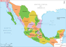 map of mexico with states map of mexico by state major tourist attractions maps