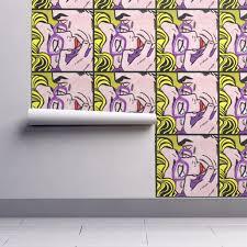 8 pop art comics woman wallpaper by raveneve roostery home