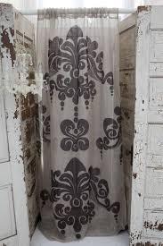 couture dreams enchantique linen gauze natural curtain panel