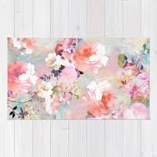 love of a flower rug by girlytrend society6