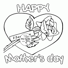 card i love you for mother u0027s day coloring page for kids coloring