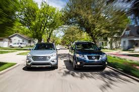 nissan pathfinder vs honda pilot 2013 family crossover comparison day five automobile magazine