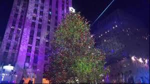 rockefeller center christmas tree lighting celebrated in new york