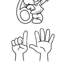 number 6 coloring page for kids bulk color