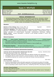 Resume For Medical Representative Job by Medical Assistant Resume Templates