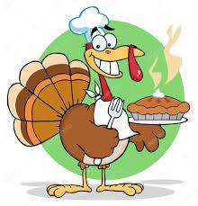thanksgiving cartoon pictures happy thanksgiving turkey bird holding a pie u2014 stock photo