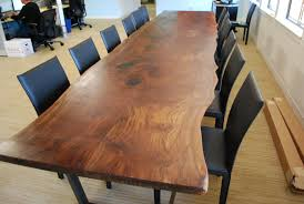Custom Made Office Furniture by Custom Walnut Slab Conference Table By Iota Woodworks Custommade