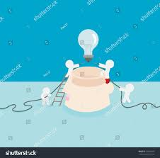 light up your brain very important try light your brain stock vector 192902165