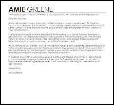 sample cover letter for a dental assistant livecareer