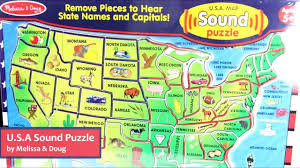 United States Map Puzzle Games by U S A Sound Puzzle By Melissa U0026 Doug Lci 715 Youtube