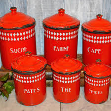 enamel kitchen canisters enamel canisters etsy