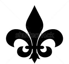 dark fleur de lis tattoo design