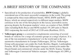bmw brief history luca buffolano bmw vs volkswagen two leading automaker companies