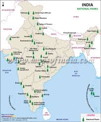 list of national parks in india map of national parks in india