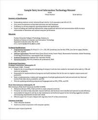 information technology resume template 10 printable information technology resume templates pdf doc