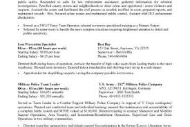 Military Police Resume Examples by Government Security Resume Sample Reentrycorps