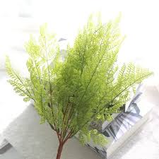 Imitation Plants Home Decoration Aliexpress Com Buy 2017 Artificial Fern Plants 1 Bouquet Fake