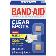 band aid brand adhesive bandages comfort flex clear spots all