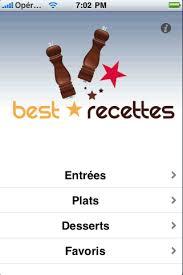 application recettes de cuisine application iphone recette best recettes
