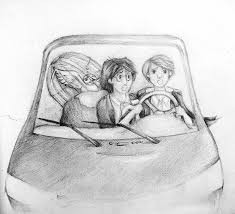 harry potter and ron in the flying car by aiedail00 on deviantart