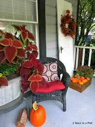 front porch fall decor blogging tour 2 bees in a pod