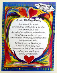 wedding sayings for and groom apache wedding blessing 8x11 inspirational quote groom