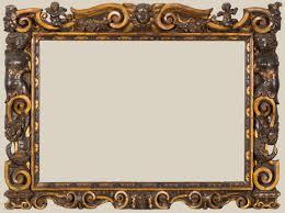 Picture Frames Design Carved Partially Gilded Sansovino Courtesy