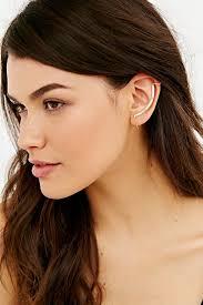 ear climber earring delicate bar ear climber cuff earring outfitters jewelry