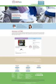 custom homepage design for ivfmd