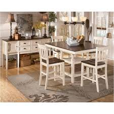 high dining room table and chairs d583 32 ashley furniture whitesburg brown cottage white