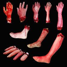 bloody hands zombie skinned arm walking dead skeleton halloween