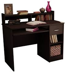 decorative wooden 1 drawer computer desk with hutch transitional