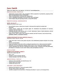 resume description exles resume