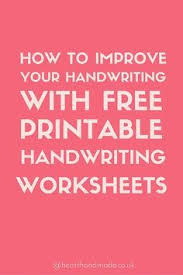 5 easy tips for improving your handwriting free printable print